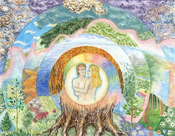 как бог создал мир рисунок