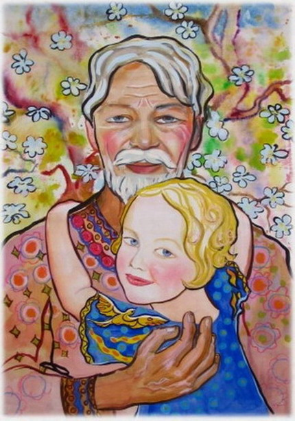 Открытки дедушка и внучка